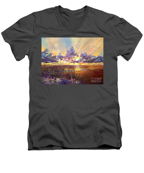 Coquina Beach Sunset Men's V-Neck T-Shirt
