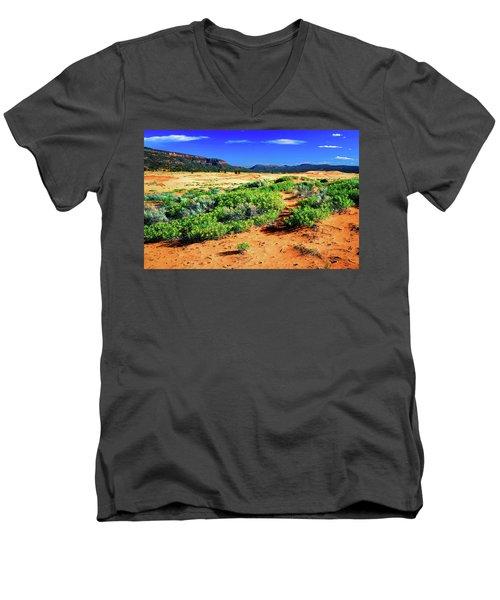 Coral Pink Sand Dunes Men's V-Neck T-Shirt