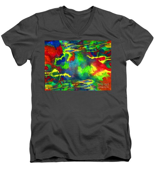 Coral Tides Men's V-Neck T-Shirt