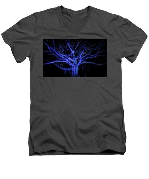 Coral Tree Men's V-Neck T-Shirt by Jason Moynihan