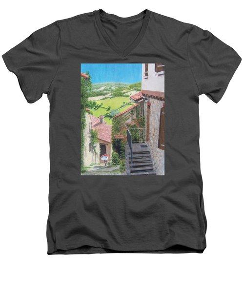 Cordes Sur Ciel 2 Men's V-Neck T-Shirt by Constance DRESCHER