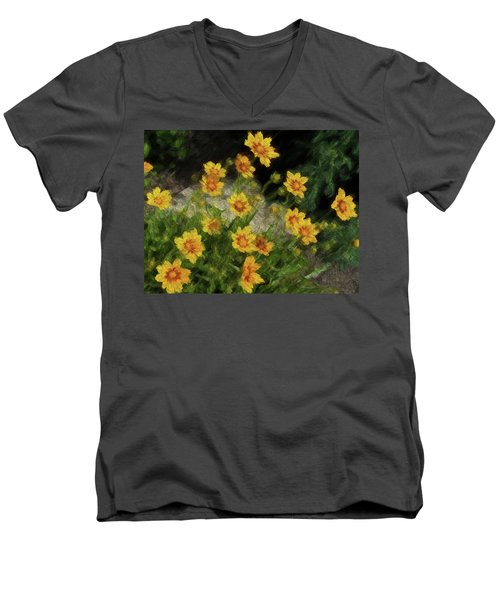 Coreopsis Tickseed Men's V-Neck T-Shirt