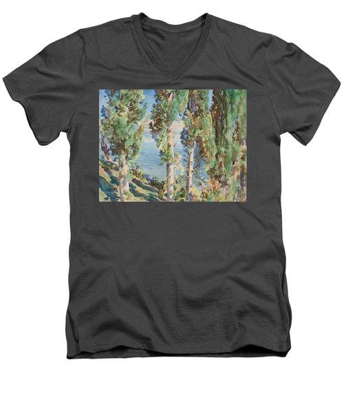 Corfu Cypresses Men's V-Neck T-Shirt