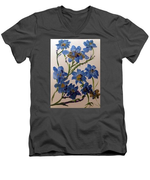 Cornflowers Cousins Men's V-Neck T-Shirt by Judith Desrosiers