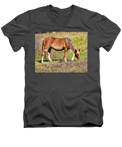 Corolla's Wild Horses Men's V-Neck T-Shirt