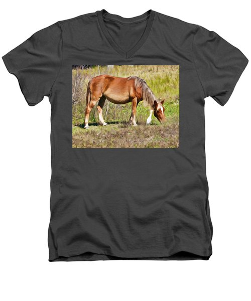 Corolla's Wild Horses Men's V-Neck T-Shirt