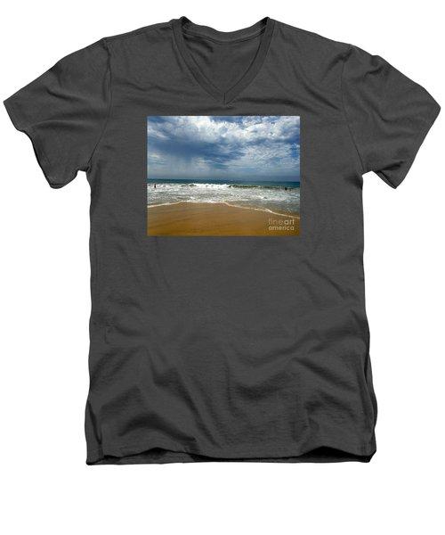 Corona Del Mar 1 Men's V-Neck T-Shirt by Cheryl Del Toro