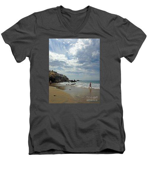 Corona Del Mar 3 Men's V-Neck T-Shirt by Cheryl Del Toro
