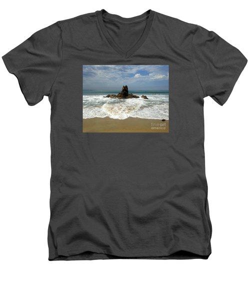 Corona Del Mar 4 Men's V-Neck T-Shirt by Cheryl Del Toro