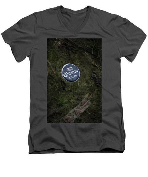 Men's V-Neck T-Shirt featuring the photograph Corona Extra by Ray Congrove