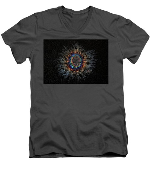 Men's V-Neck T-Shirt featuring the photograph Corona by Mark Fuller