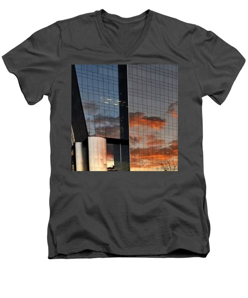 #corporative #architecture At Dusk Men's V-Neck T-Shirt by Carlos Alkmin