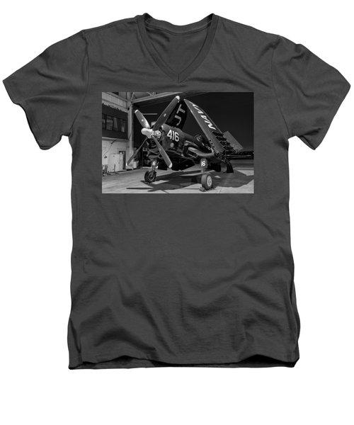 Corsair In The Hangar Men's V-Neck T-Shirt