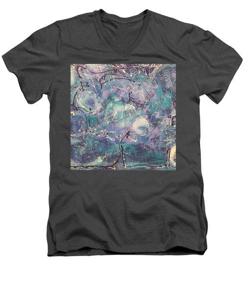 Cosmic Abstract Men's V-Neck T-Shirt