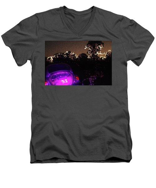 Cosmic Beetle Impressions Men's V-Neck T-Shirt by Carolina Liechtenstein