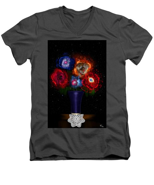 Cosmic Bouquet Men's V-Neck T-Shirt