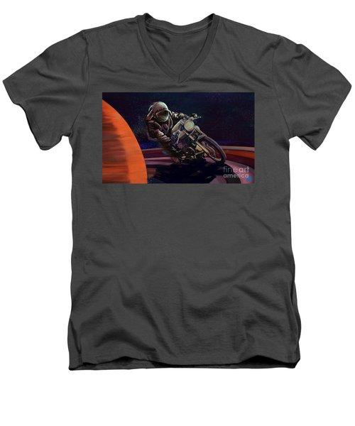Cosmic Cafe Racer Men's V-Neck T-Shirt