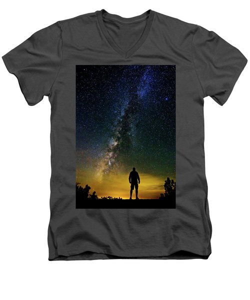 Cosmic Contemplation Men's V-Neck T-Shirt
