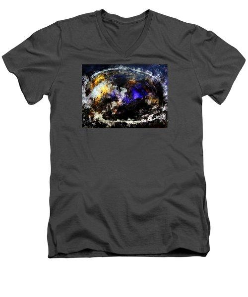 Cosmic Dream  45x60 Prints Modern Paintings Abstract Art Original Men's V-Neck T-Shirt