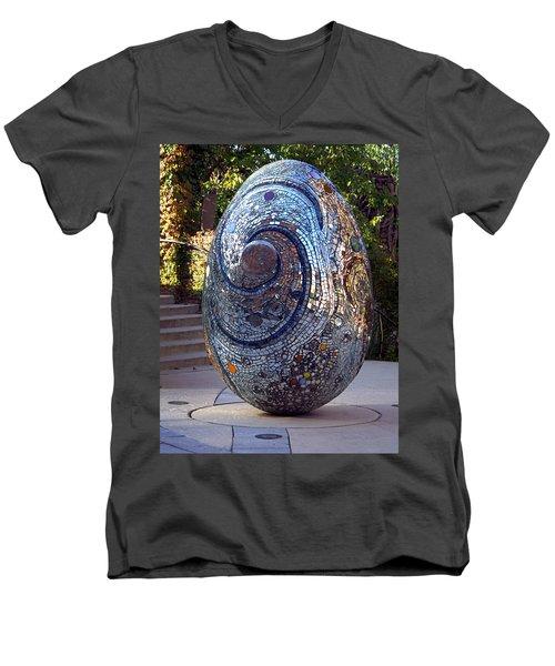 Cosmic Egg Men's V-Neck T-Shirt by Joseph Skompski