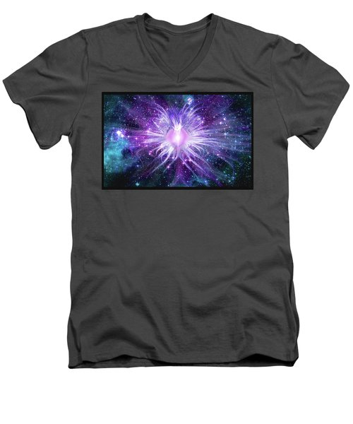 Cosmic Heart Of The Universe Mosaic Men's V-Neck T-Shirt