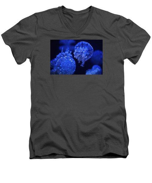 Cosmic Jellyfish 3 Men's V-Neck T-Shirt