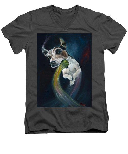 Cosmojo Men's V-Neck T-Shirt by Claudia Goodell