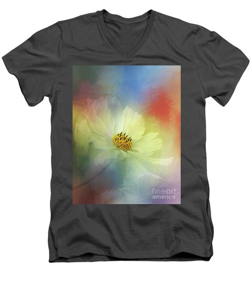 Cosmos Dreaming Abstract By Kaye Menner Men's V-Neck T-Shirt