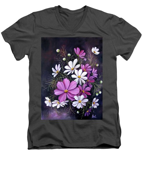 Cosmos Men's V-Neck T-Shirt by Katia Aho