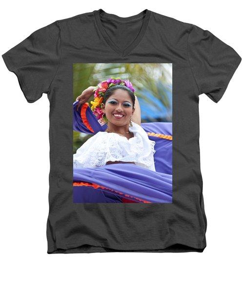 Costa Maya Dancer Men's V-Neck T-Shirt