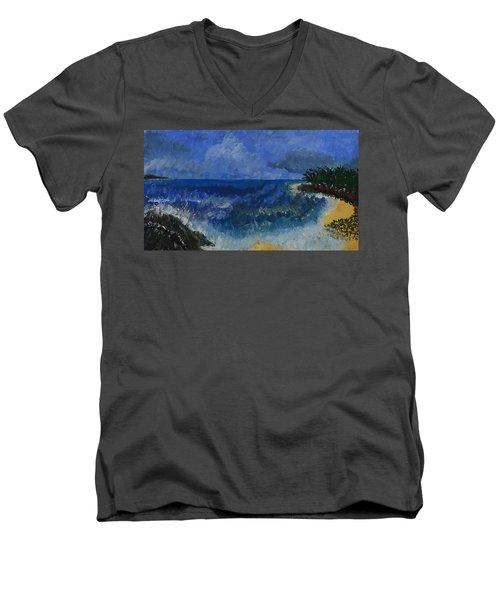 Costa Rica Beach Men's V-Neck T-Shirt
