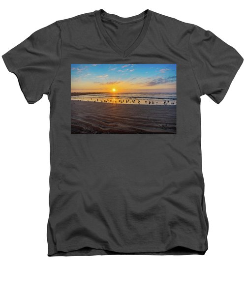 Coastal Sunrise Men's V-Neck T-Shirt