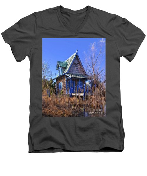 Cottage In The Willows Men's V-Neck T-Shirt