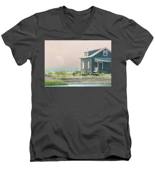 Cottage On The Sound Men's V-Neck T-Shirt