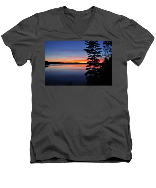 Cottage Sunset Men's V-Neck T-Shirt by Keith Armstrong