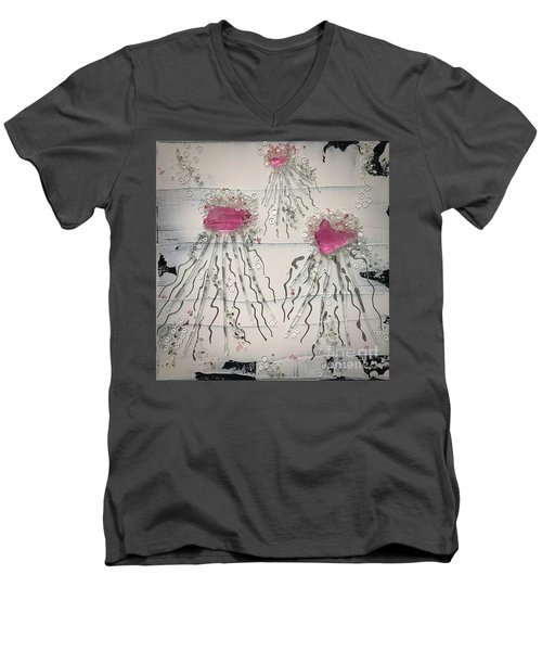 Cotton Candy Jelly-fish Men's V-Neck T-Shirt