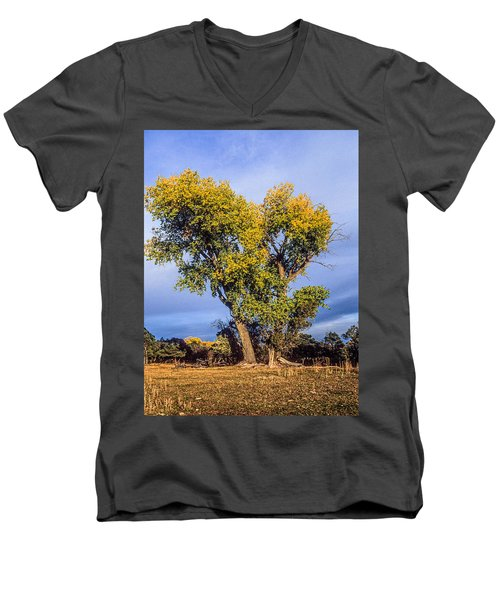 Cottonwood #4 Fall Ranch Colorado Men's V-Neck T-Shirt