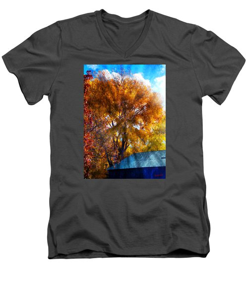Cottonwood Conversations With Cobalt Sky  Men's V-Neck T-Shirt by Anastasia Savage Ealy