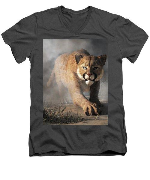 Cougar Is Gonna Get You Men's V-Neck T-Shirt