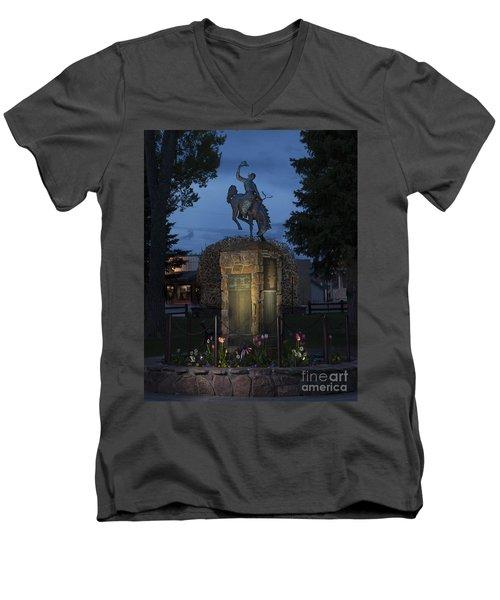 Coulter Memorial, Jackson, Wyoming Men's V-Neck T-Shirt