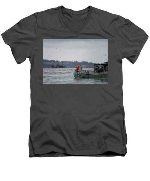 Men's V-Neck T-Shirt featuring the photograph Country Club by Randy Hall