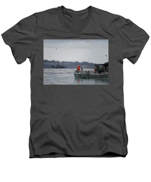 Country Club Men's V-Neck T-Shirt by Randy Hall