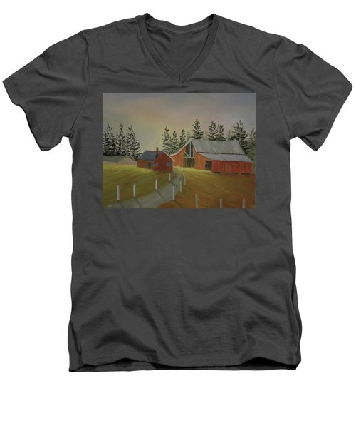 Country Farm Men's V-Neck T-Shirt