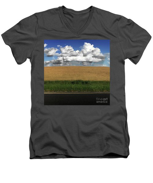 Country Field Men's V-Neck T-Shirt by Brian Jones