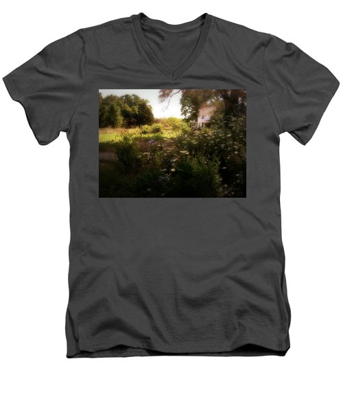 Men's V-Neck T-Shirt featuring the photograph Country House by Cynthia Lassiter