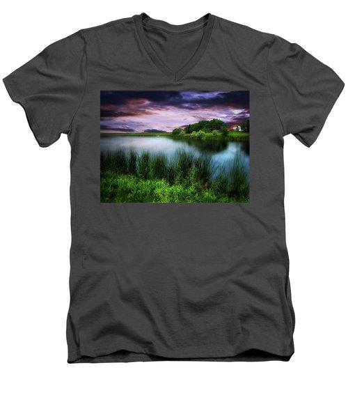Country Lake Men's V-Neck T-Shirt