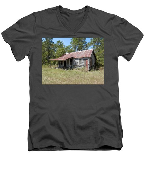 Country Living Gone To The Dawgs Men's V-Neck T-Shirt by Belinda Lee