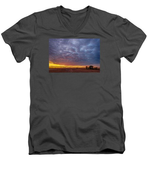 Men's V-Neck T-Shirt featuring the photograph Country Living by Sebastian Musial