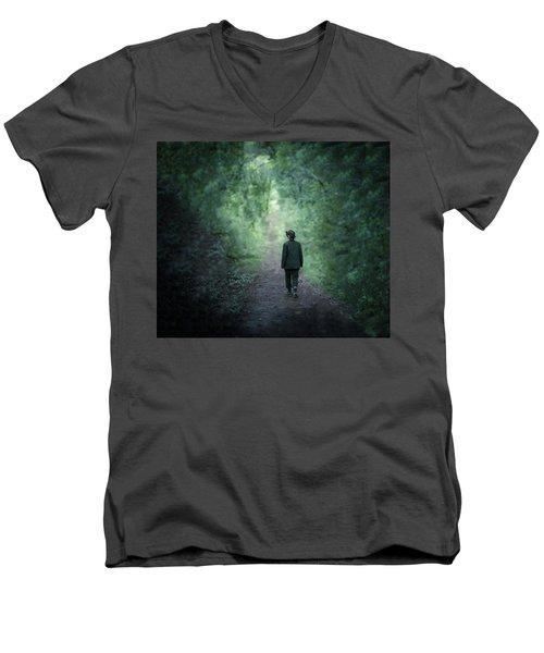 Country Path Men's V-Neck T-Shirt