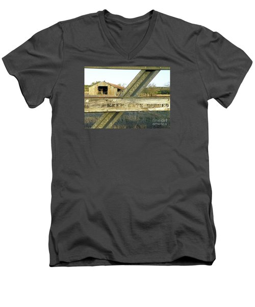 Men's V-Neck T-Shirt featuring the photograph Country Quiet by Joe Jake Pratt